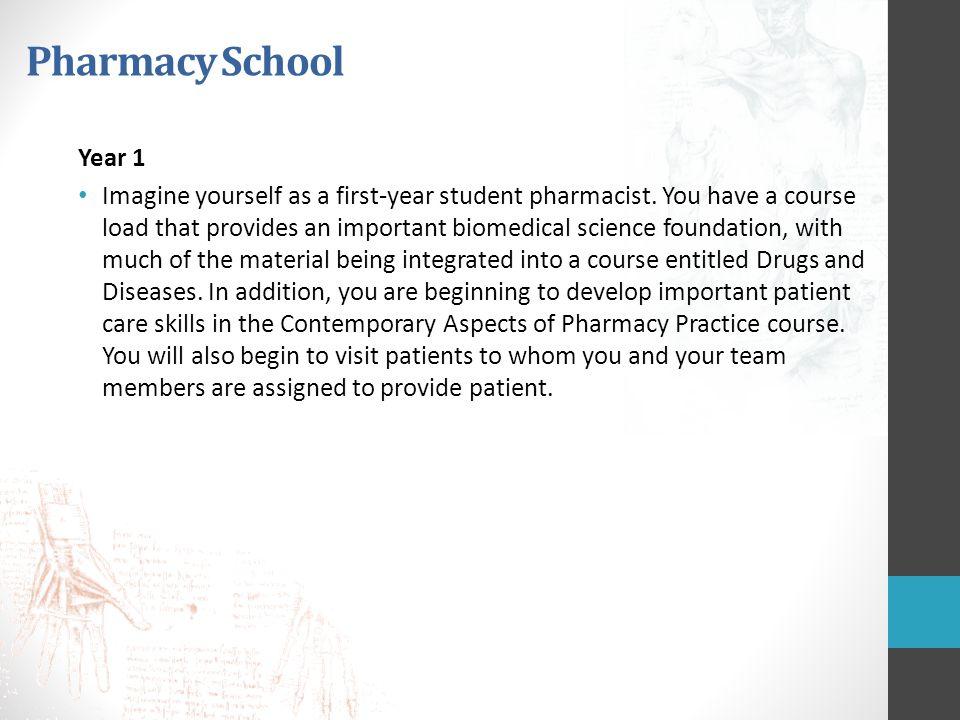 Pharmacy School Year 1.