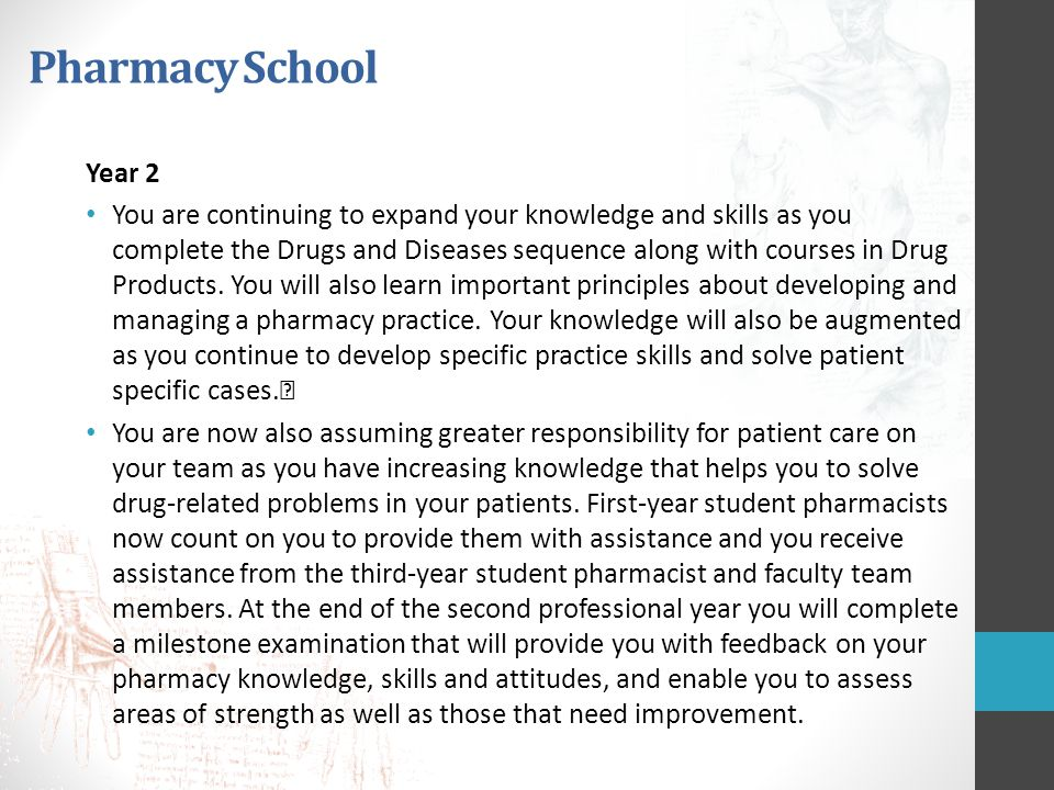Pharmacy School Year 2.