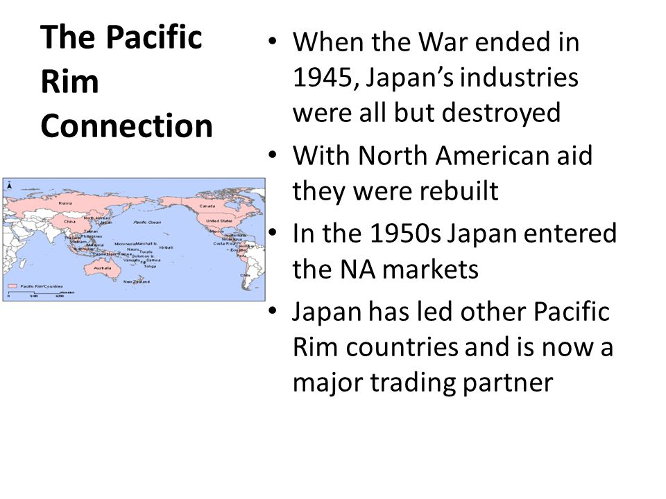 The Pacific Rim Connection