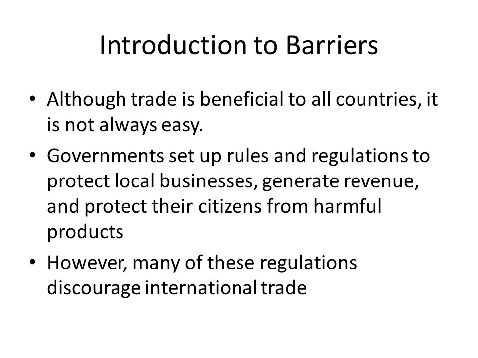 Introduction to Barriers