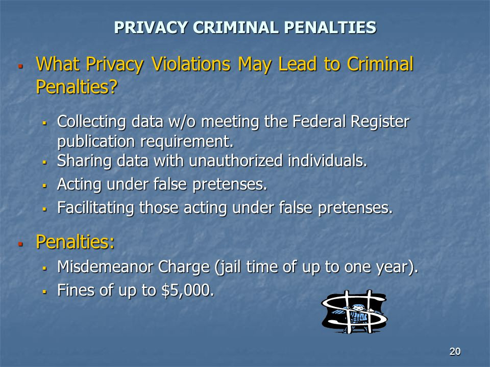 PRIVACY CRIMINAL PENALTIES