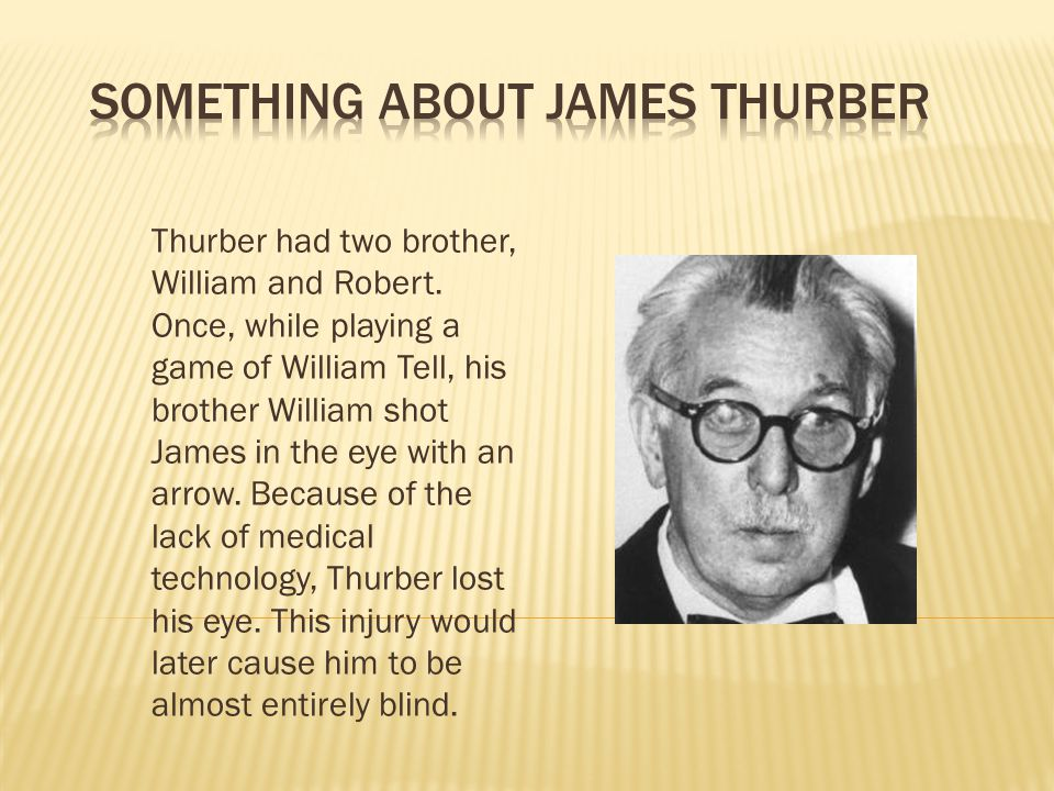 Something about James Thurber