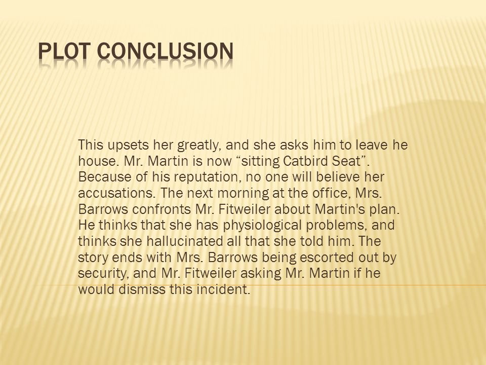 Plot Conclusion