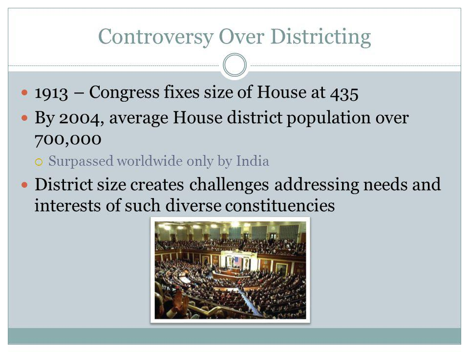 Controversy Over Districting