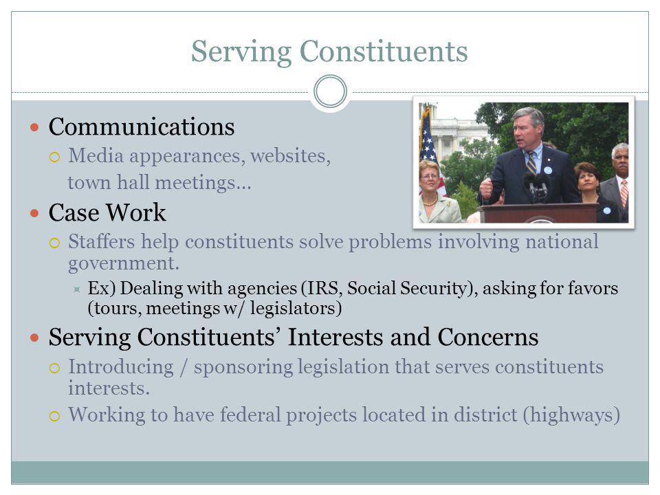 Serving Constituents Communications Case Work