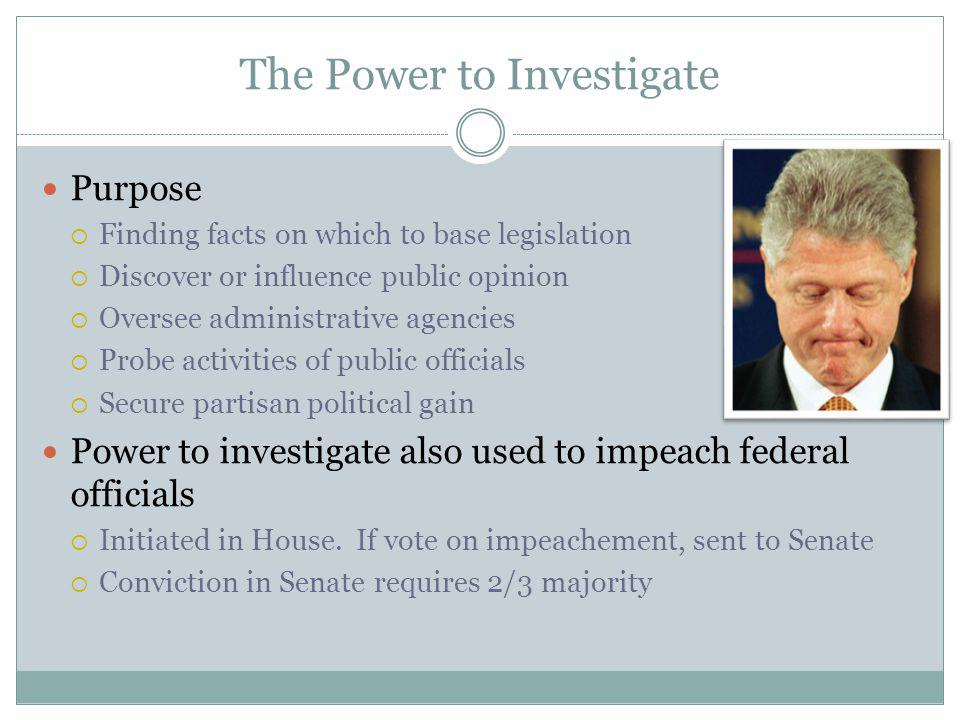 The Power to Investigate
