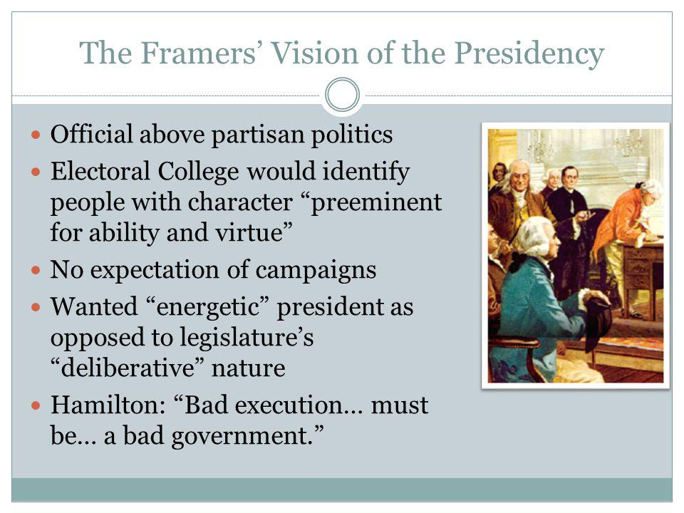 The Framers' Vision of the Presidency