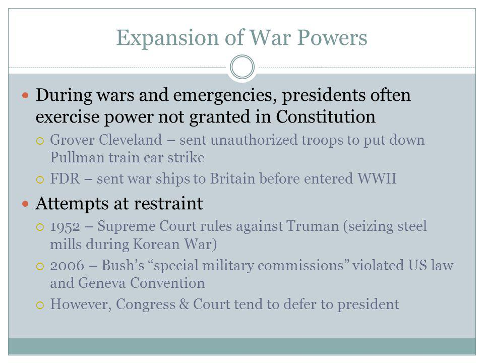Expansion of War Powers