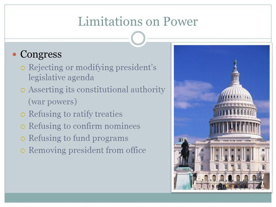 Limitations on Power Congress