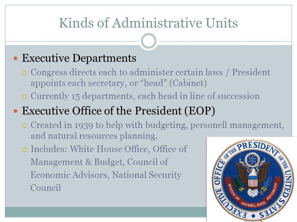 Kinds of Administrative Units