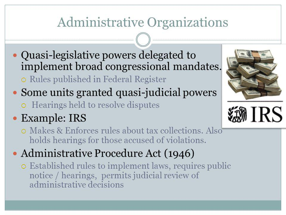 Administrative Organizations
