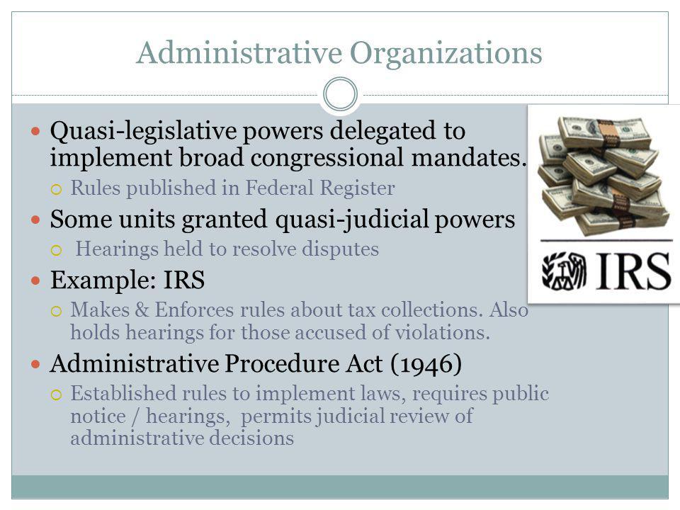 Administrative Organizations