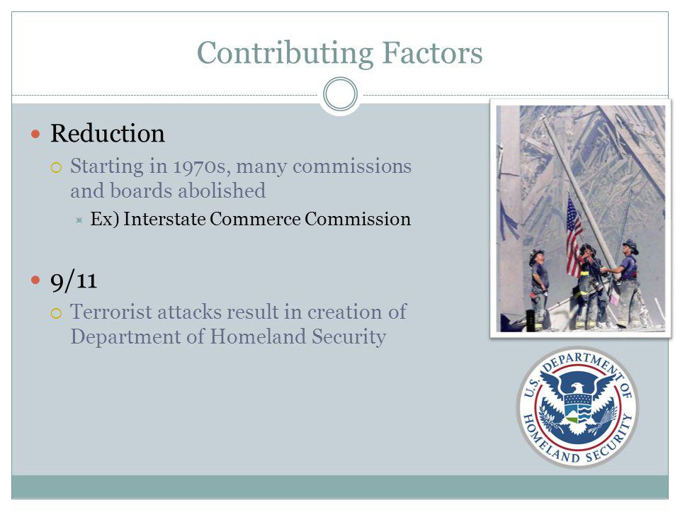 Contributing Factors Reduction 9/11