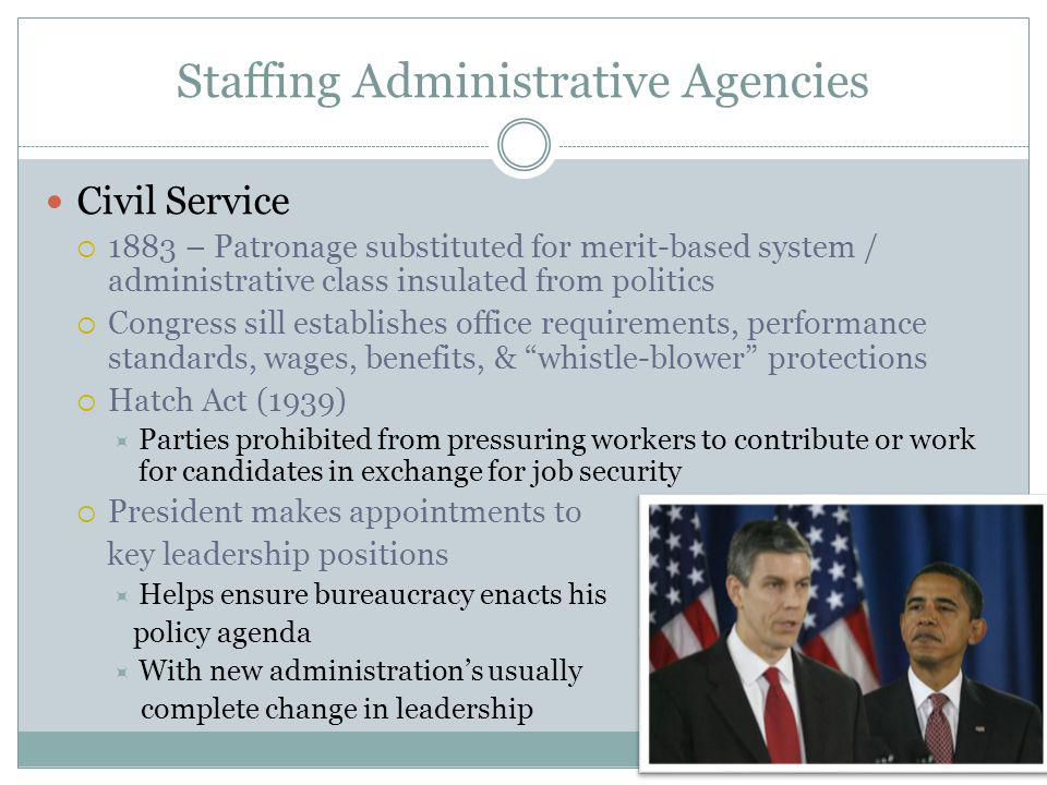 Staffing Administrative Agencies