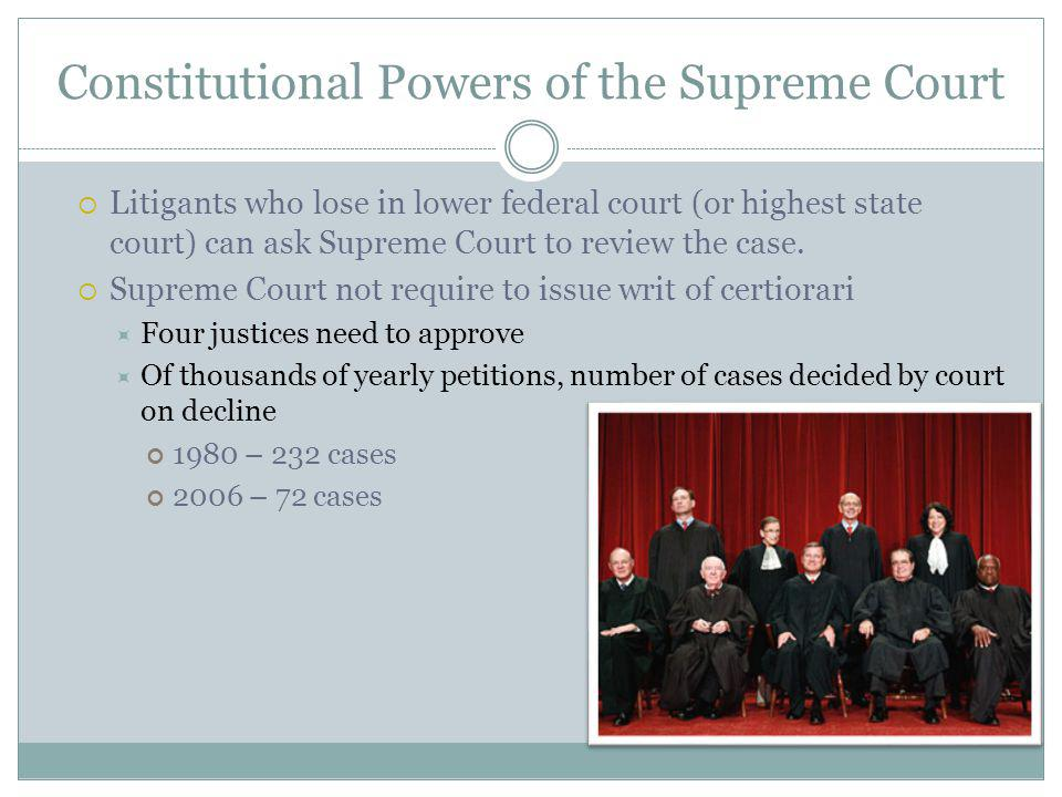 Constitutional Powers of the Supreme Court