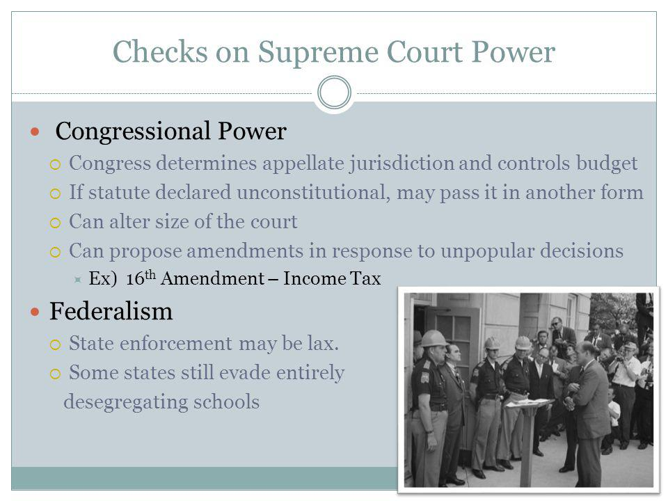 Checks on Supreme Court Power