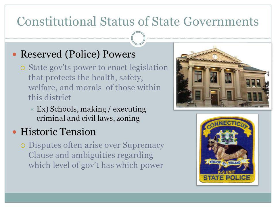 Constitutional Status of State Governments