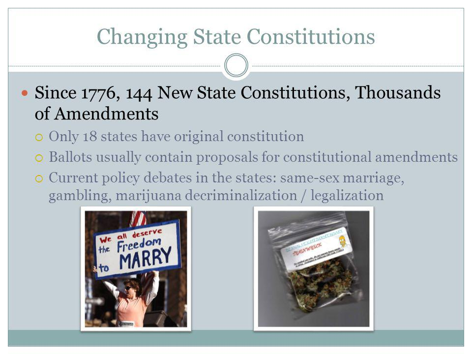 Changing State Constitutions