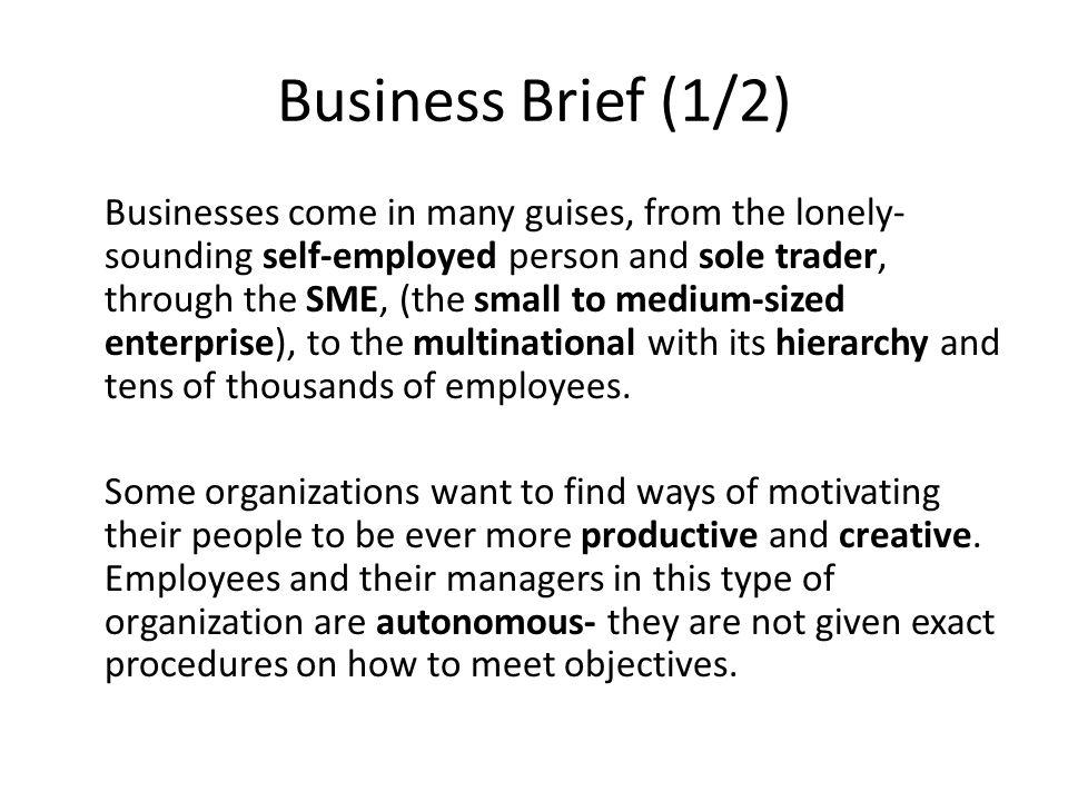 Business Brief (1/2)