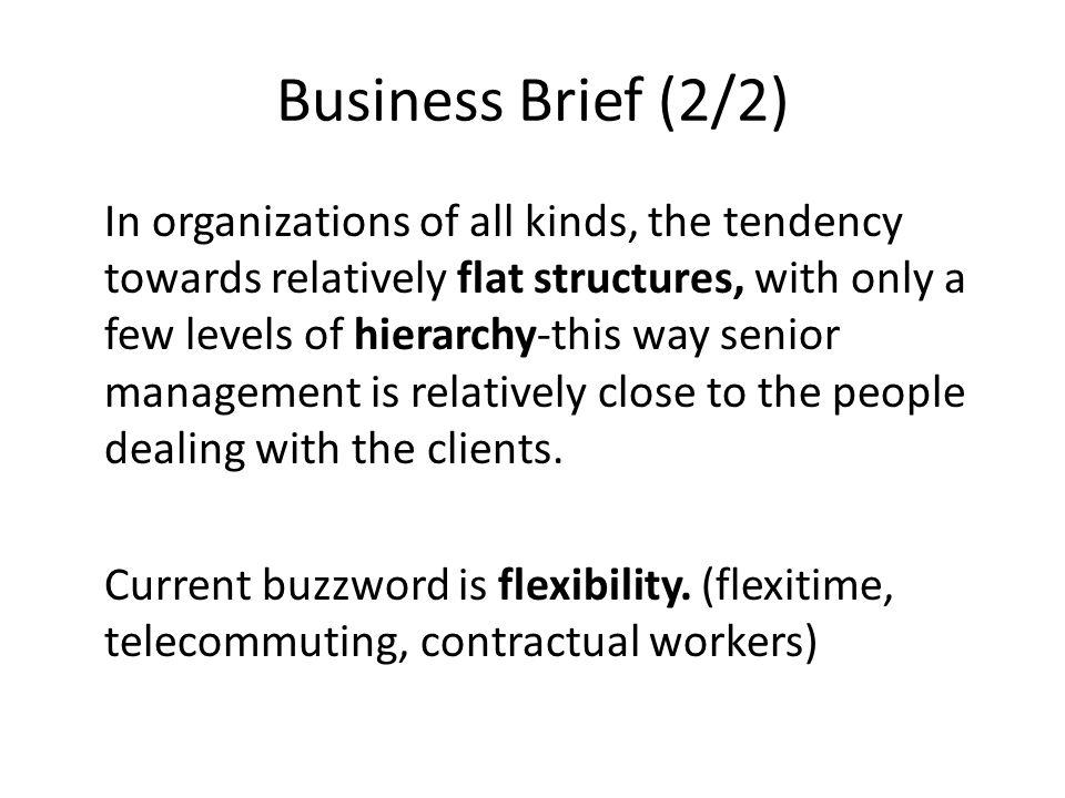 Business Brief (2/2)