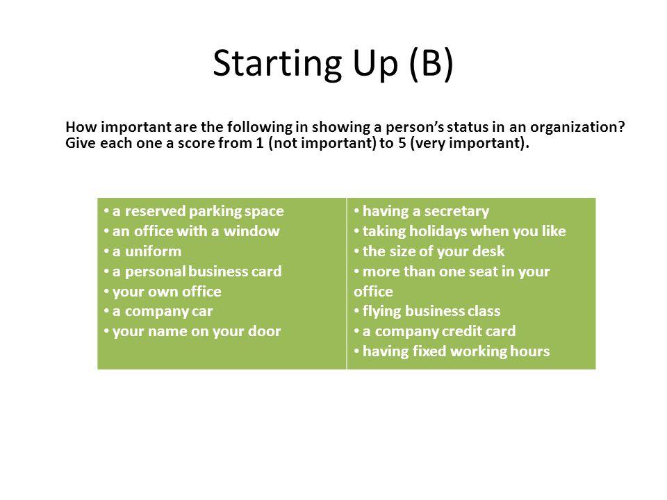 Starting Up (B)