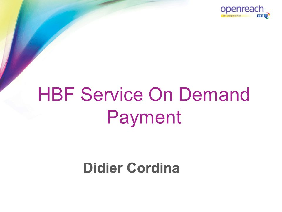 HBF Service On Demand Payment