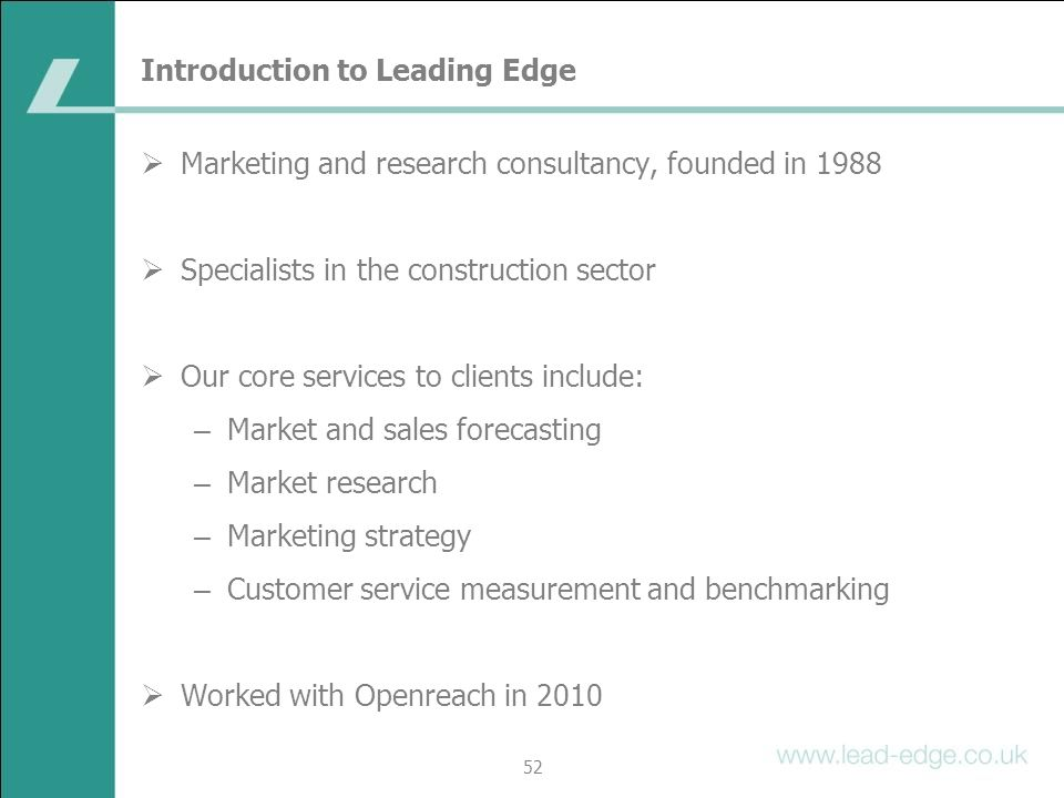 Introduction to Leading Edge