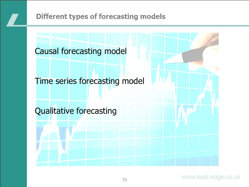Different types of forecasting models