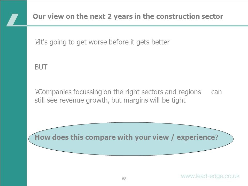 Our view on the next 2 years in the construction sector
