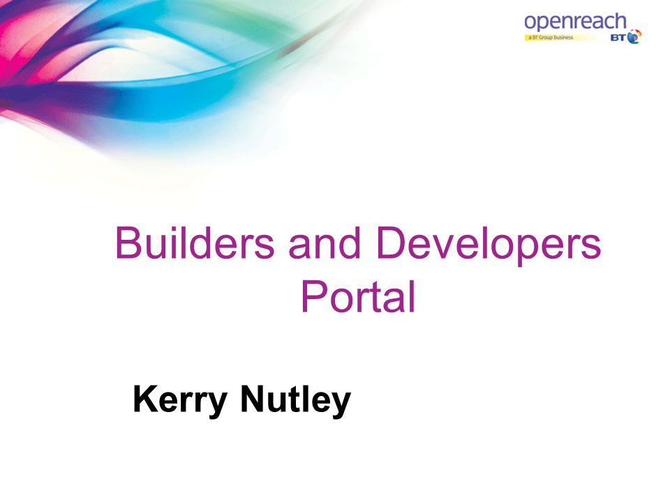 Builders and Developers Portal