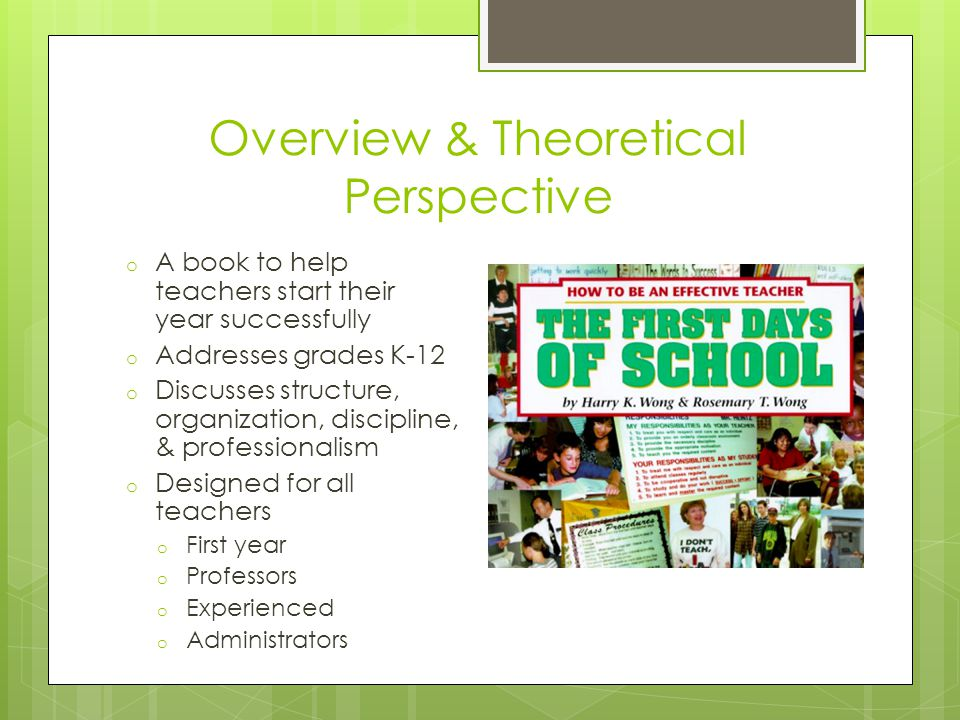 Overview & Theoretical Perspective