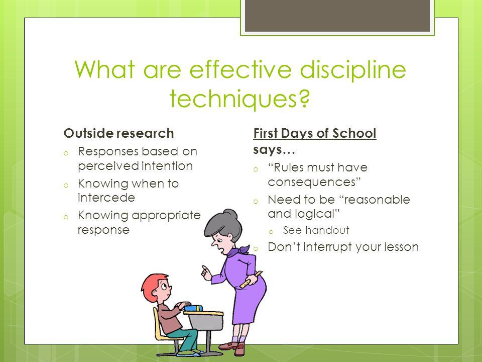 What are effective discipline techniques