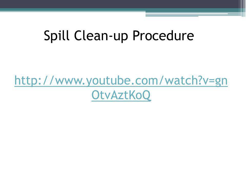 Spill Clean-up Procedure