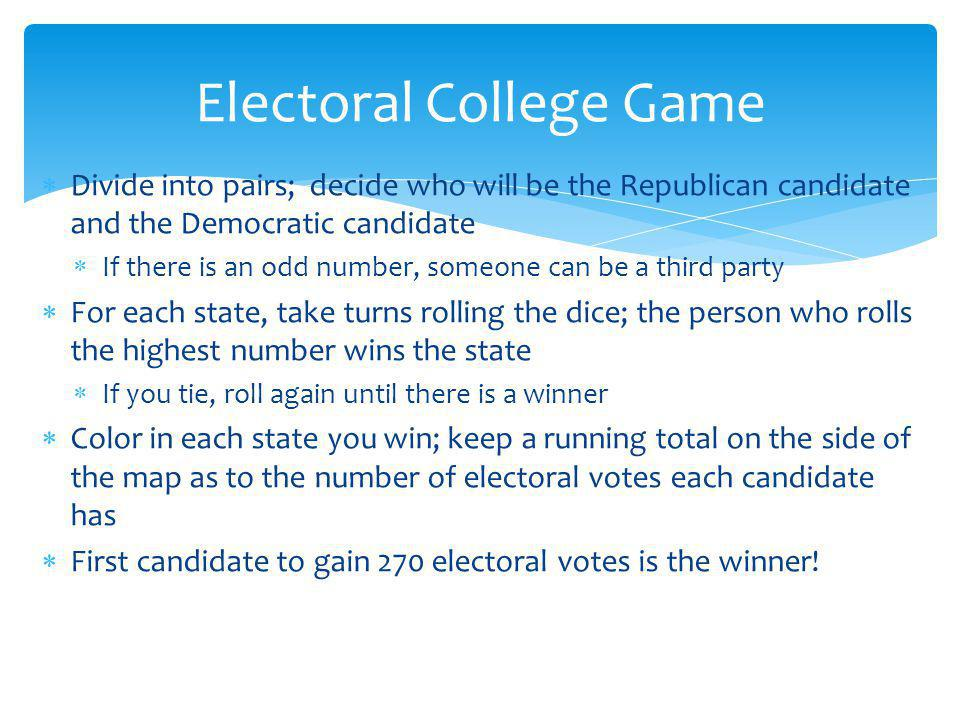 Electoral College Game