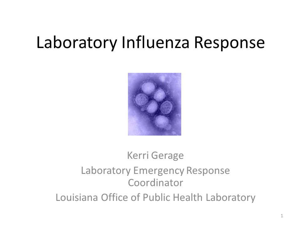 Laboratory Influenza Response