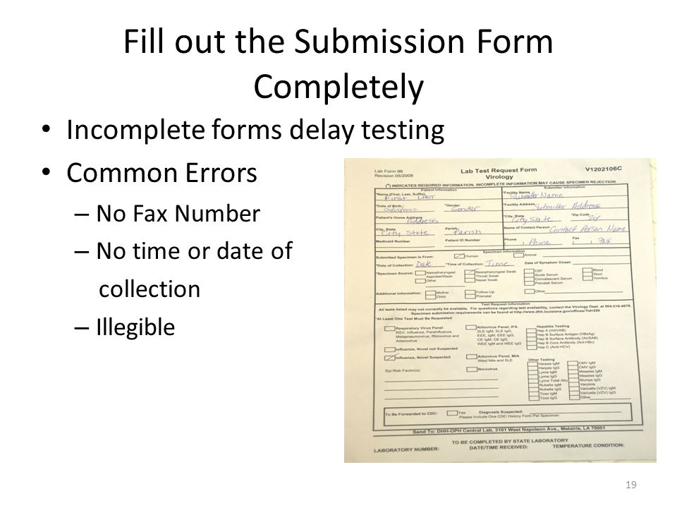 Fill out the Submission Form Completely