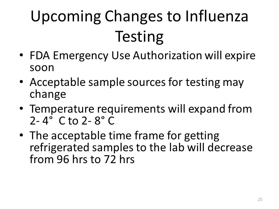 Upcoming Changes to Influenza Testing
