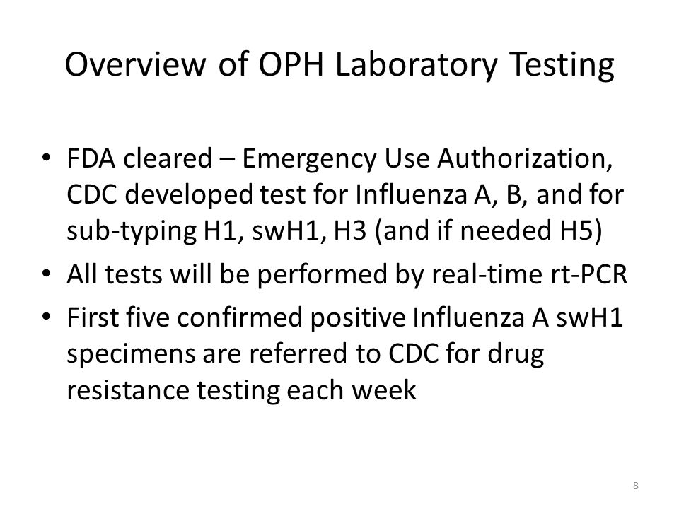 Overview of OPH Laboratory Testing