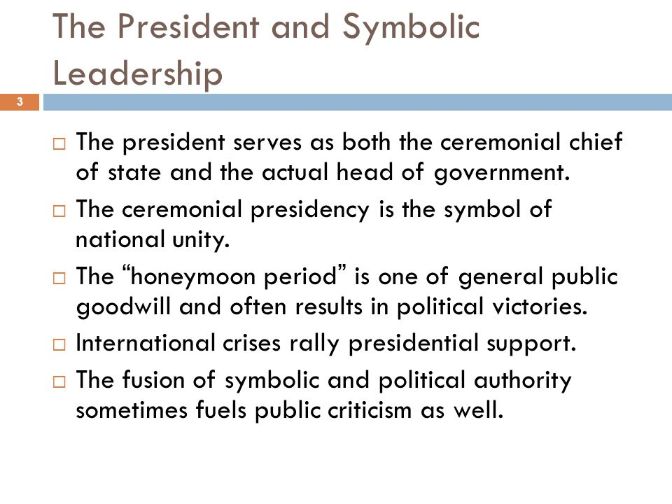 The President and Symbolic Leadership
