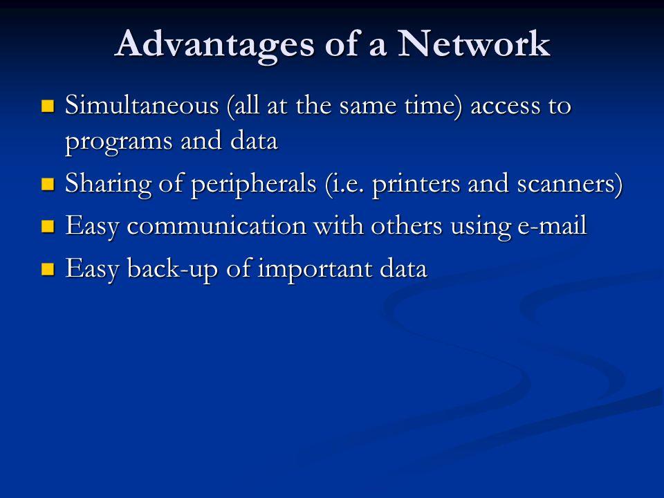 Advantages of a Network