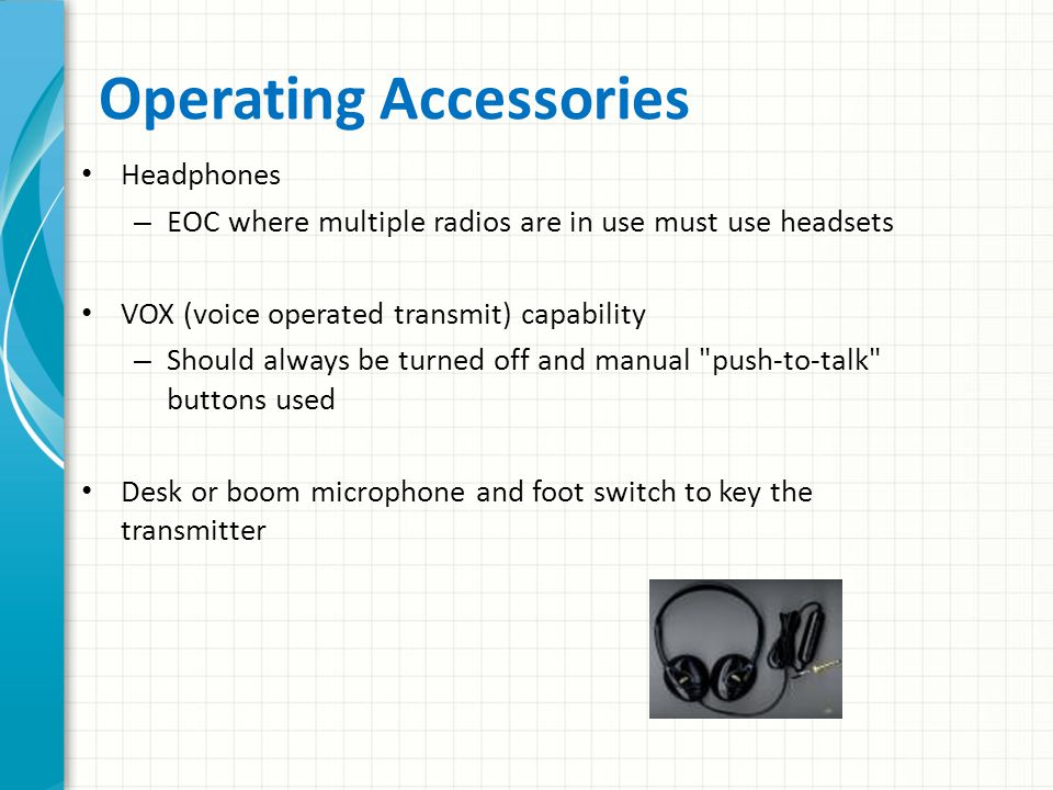 Operating Accessories