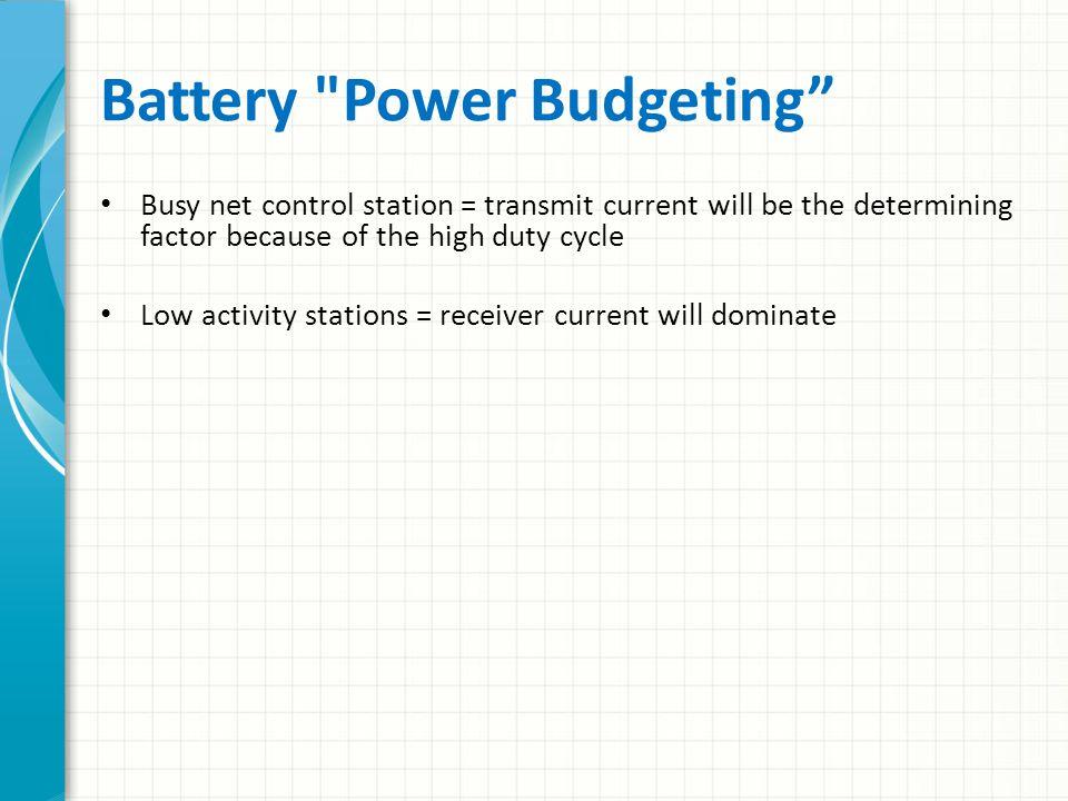 Battery Power Budgeting