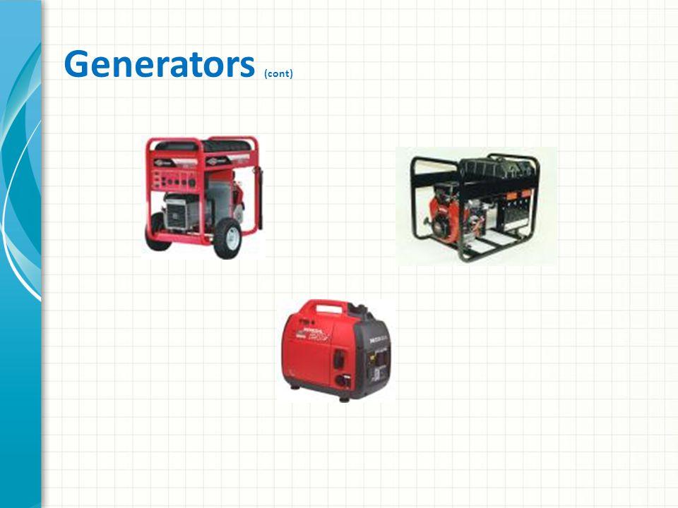 Generators (cont)