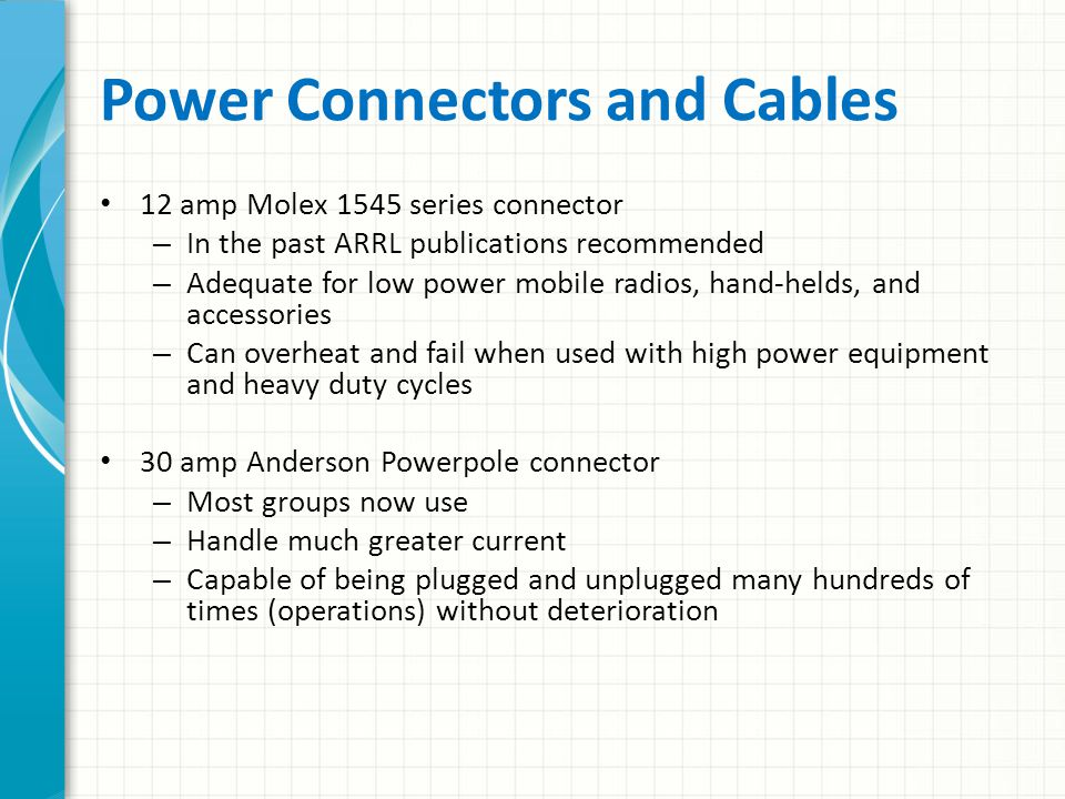 Power Connectors and Cables