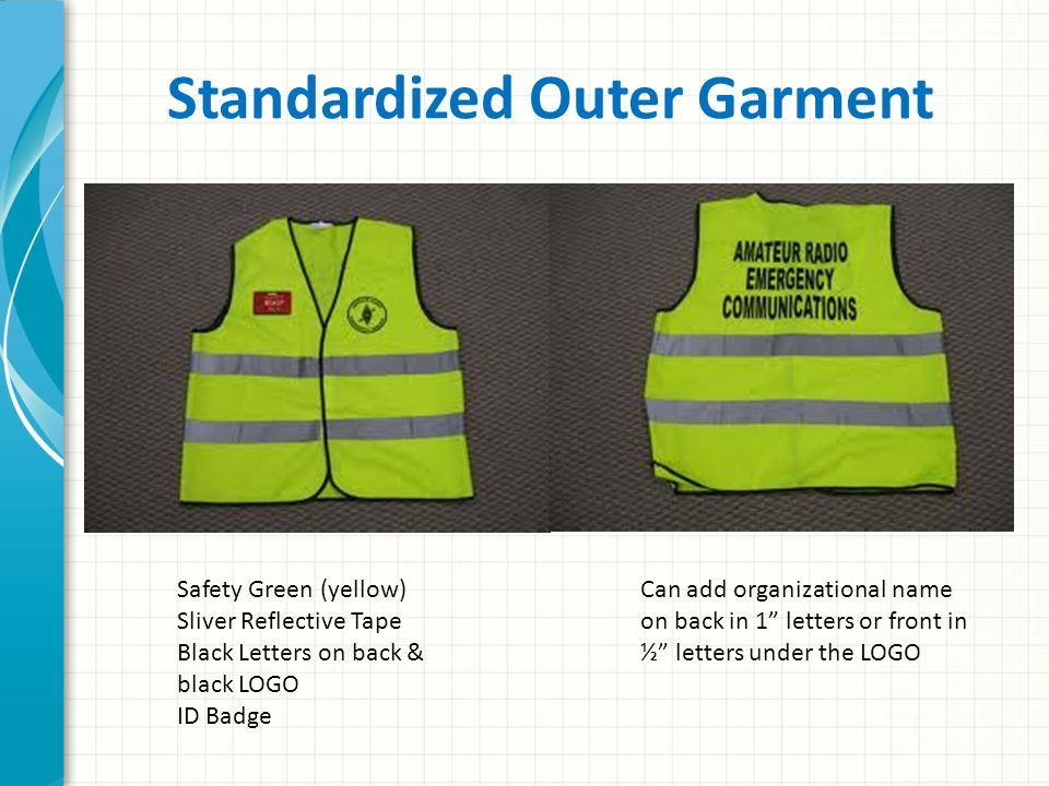 Standardized Outer Garment