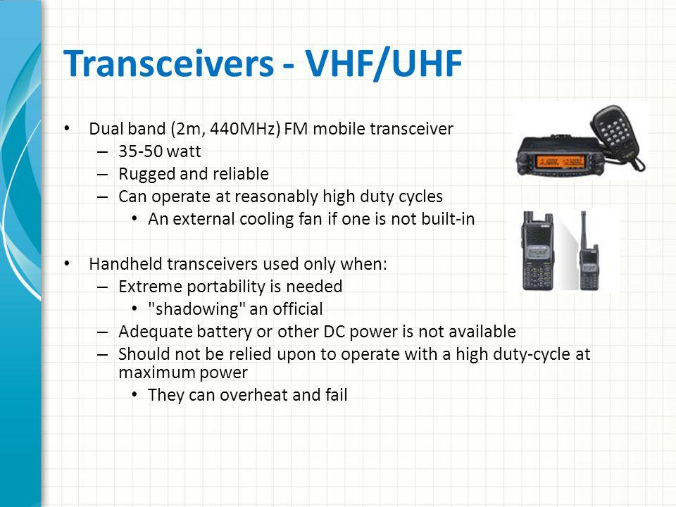 Transceivers - VHF/UHF