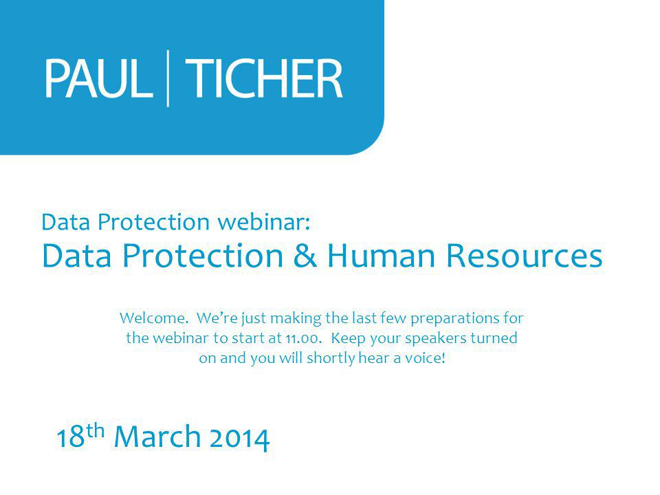 Data Protection webinar: Data Protection & Human Resources