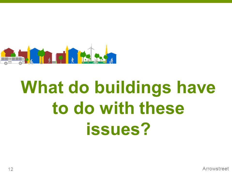 What do buildings have to do with these issues