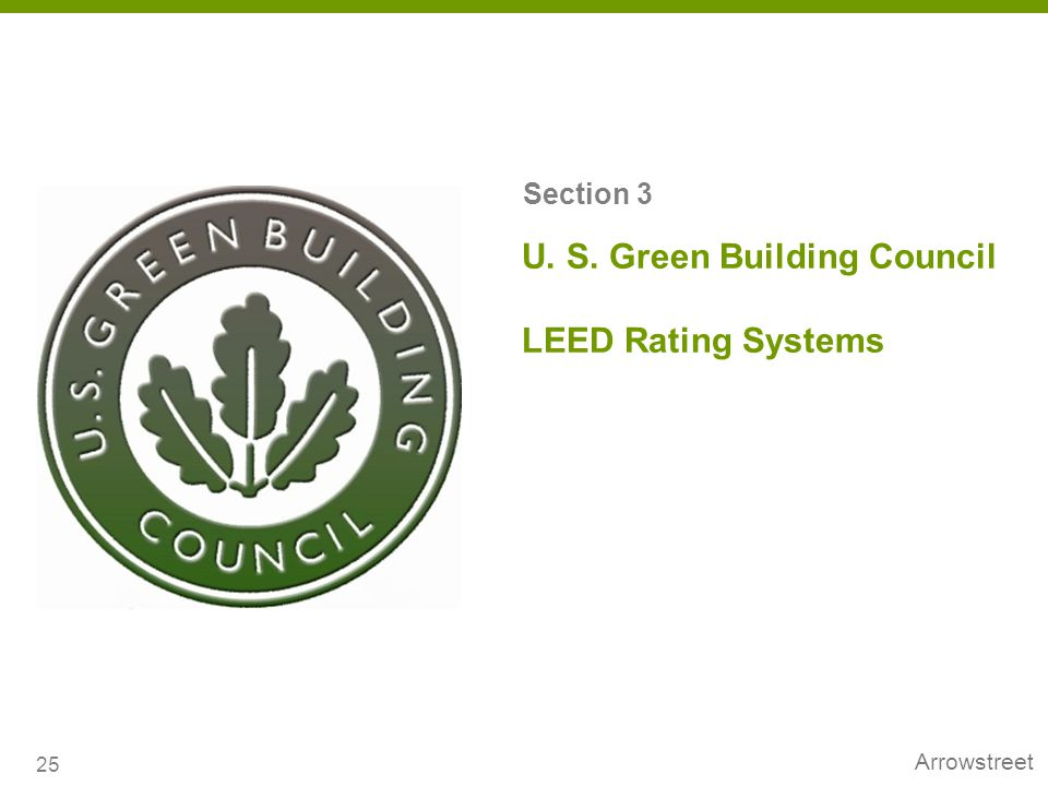 U. S. Green Building Council LEED Rating Systems
