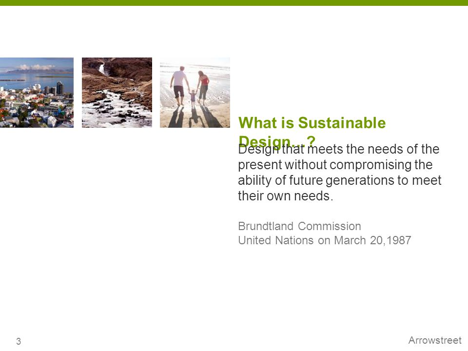 What is Sustainable Design…